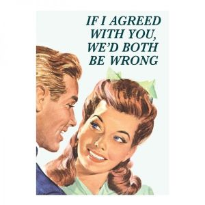 If I Agreed With You, We'd Both Be Wrong funny steel fridge magnet